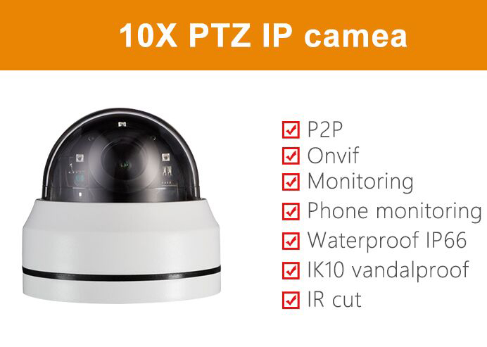 10xZoom PTZ Security Camera