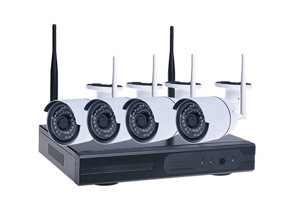4 Camera Security System 1080P Outdoor NVR Wireless Kit