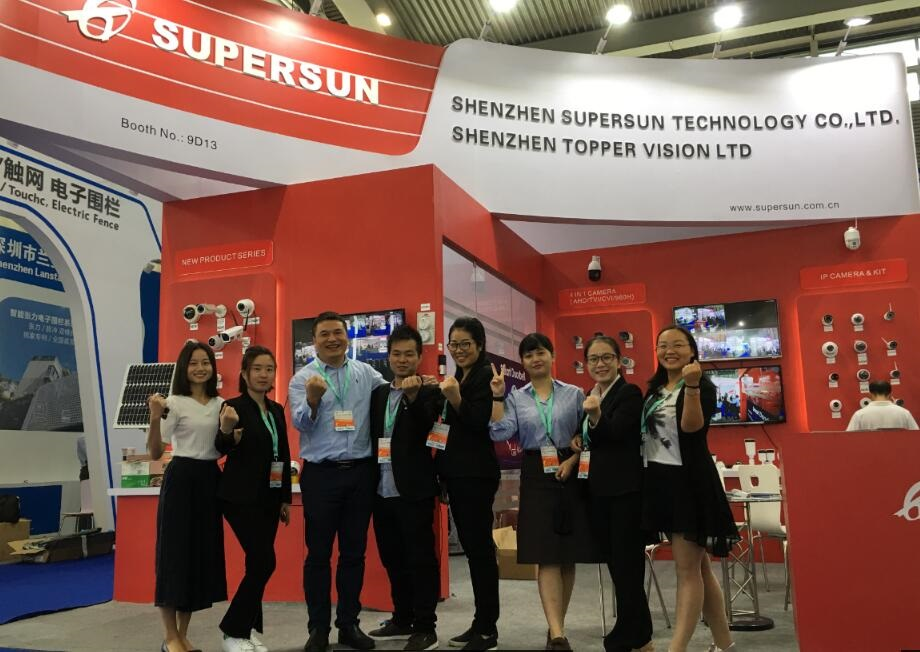 Supersun Showed 5mp IP Camera in 2017 Shen Zhen CPSE